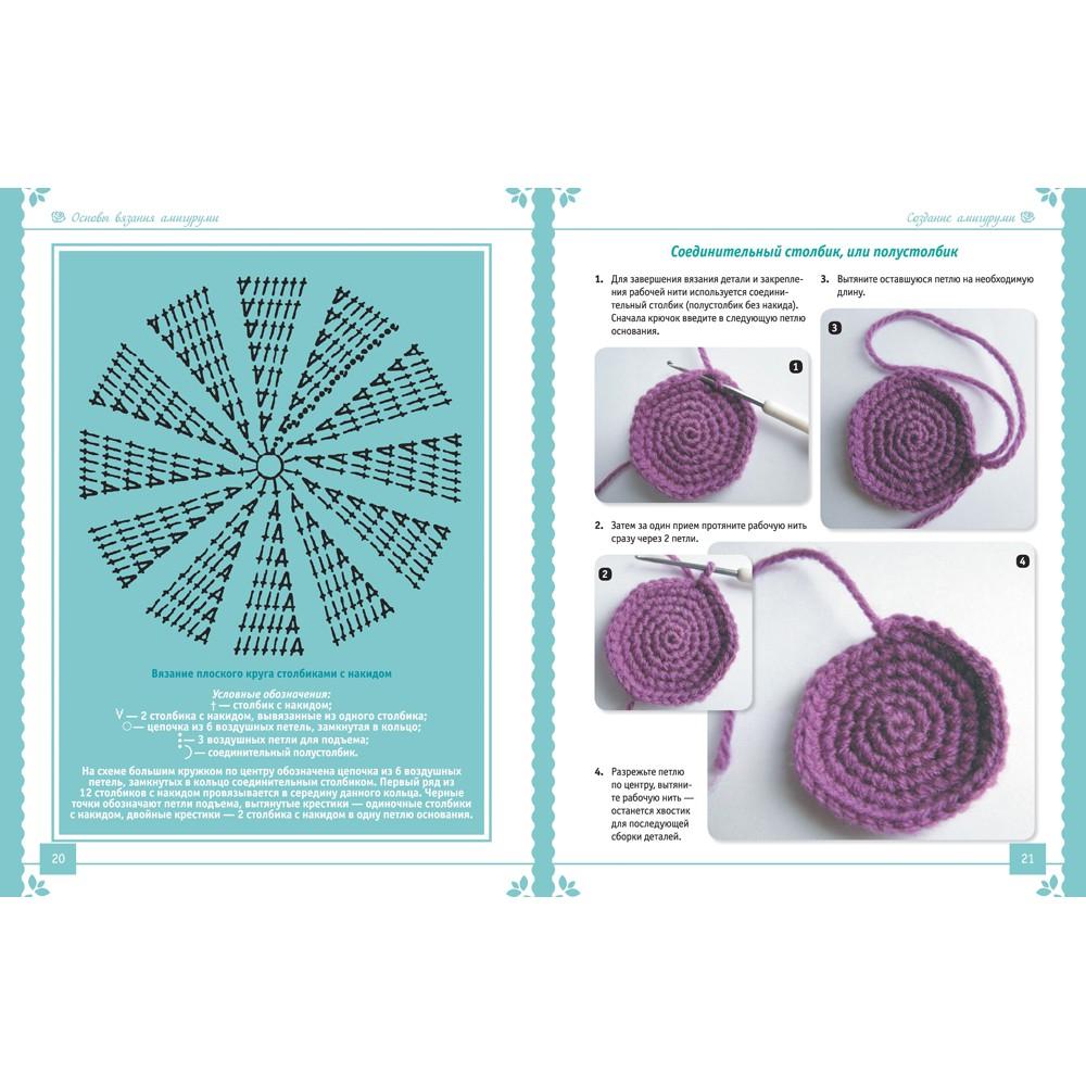 Вязание круга столбиками с накидом 38